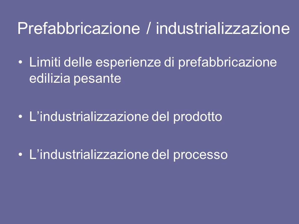 Prefabbricazione / industrializzazione