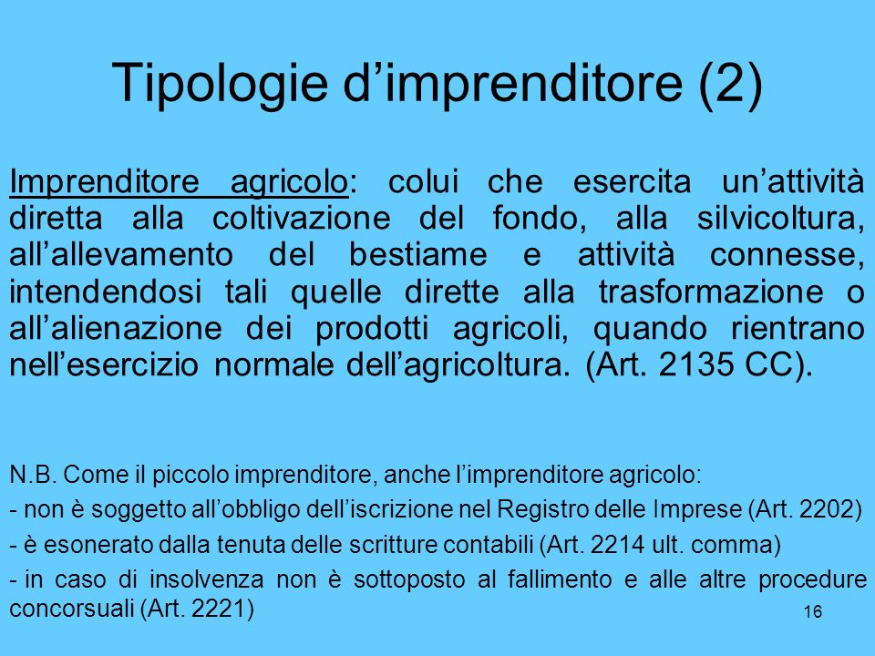 Tipologie d'imprenditore (2)
