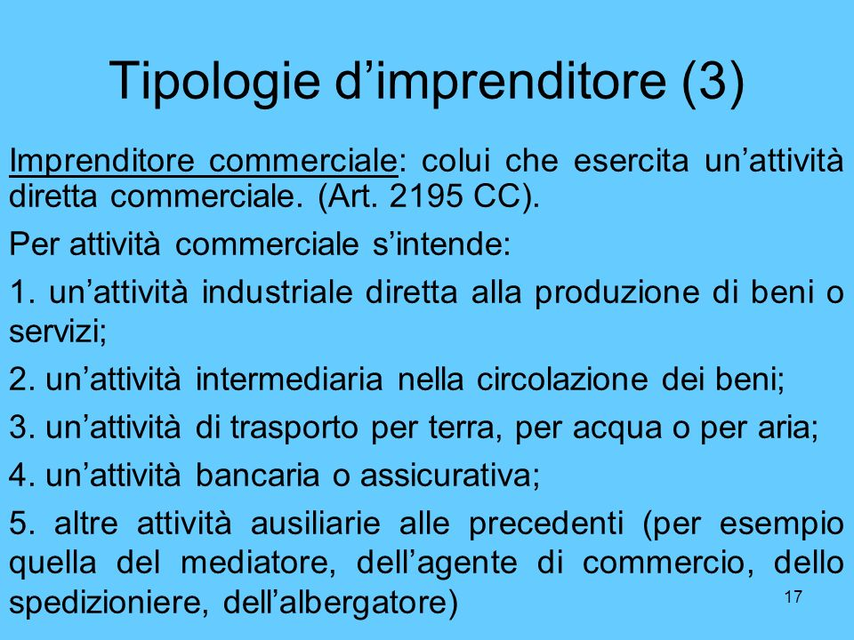 Tipologie d'imprenditore (3)