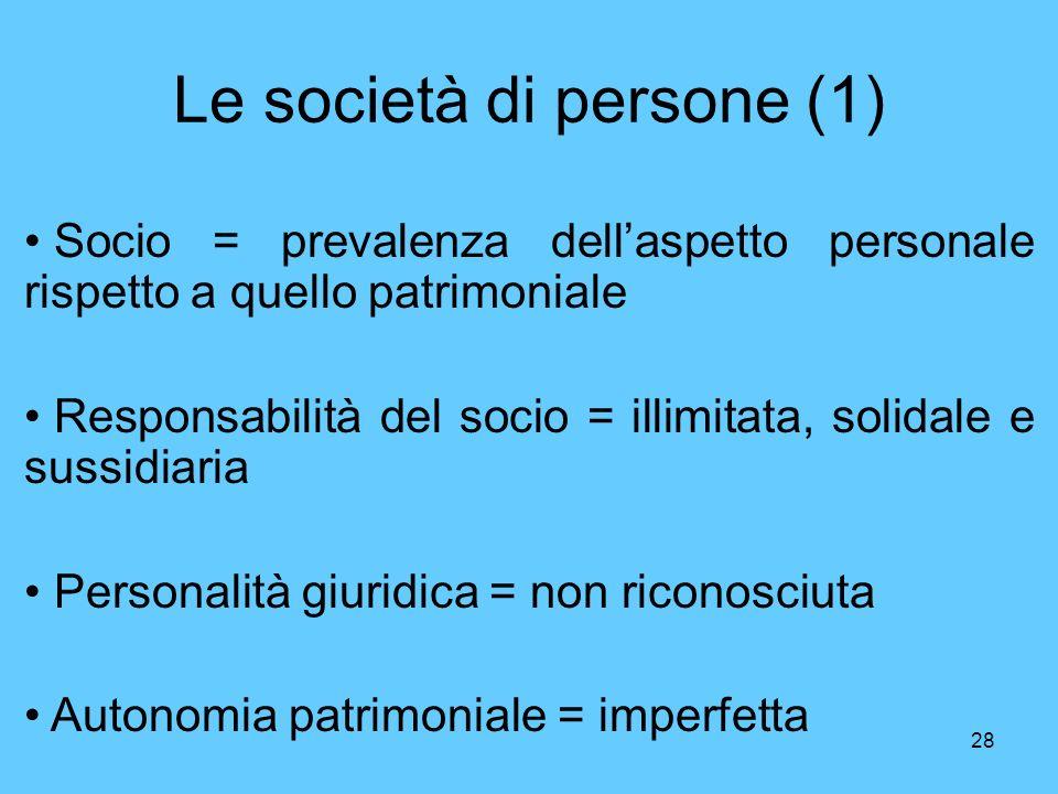 Le società di persone (1)