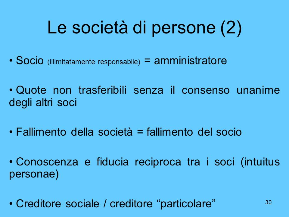 Le società di persone (2)