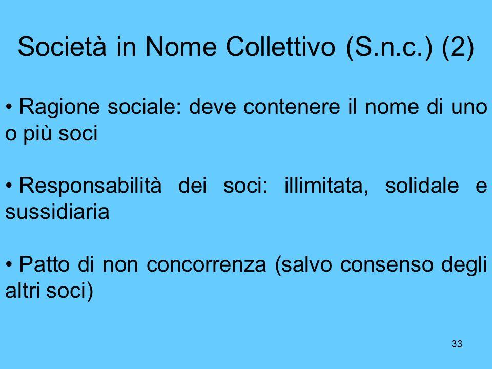 Società in Nome Collettivo (S.n.c.) (2)
