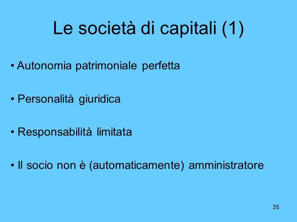 Le società di capitali (1)