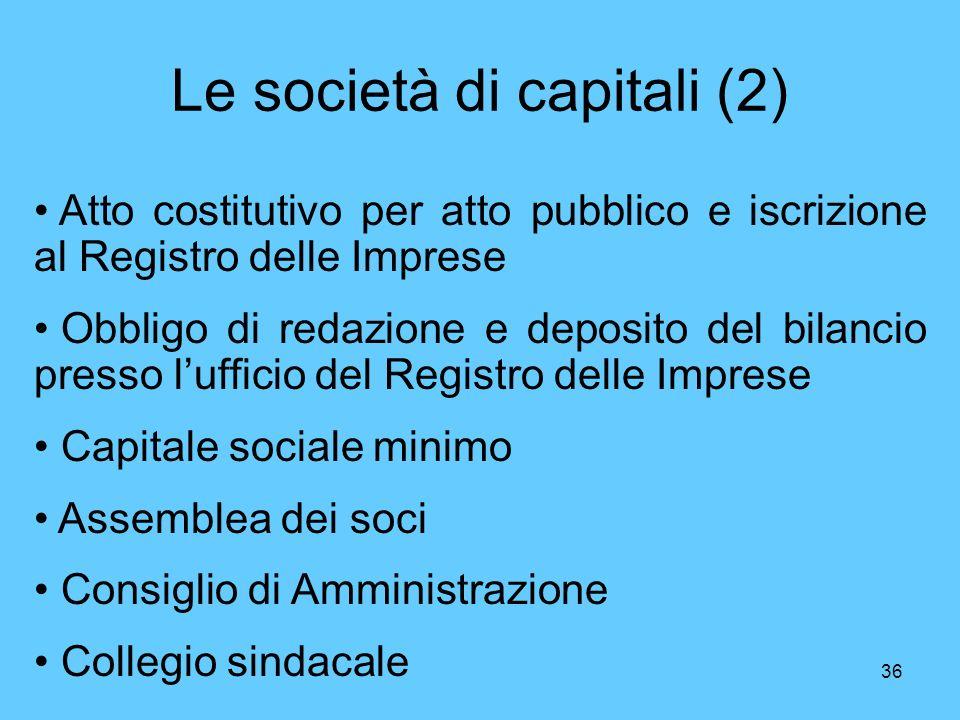 Le società di capitali (2)
