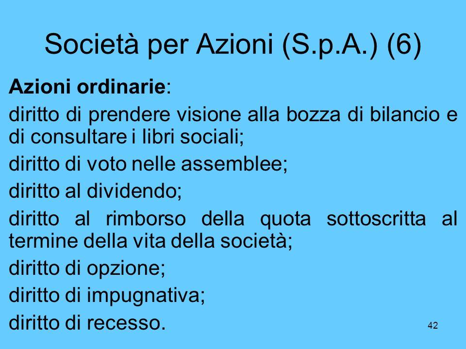 Società per Azioni (S.p.A.) (6)