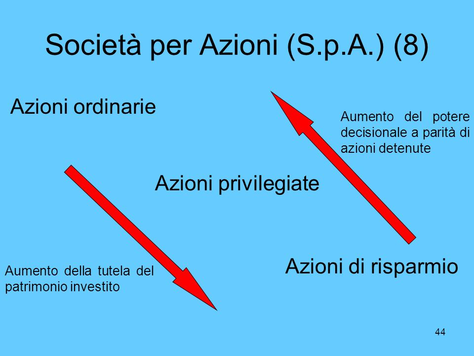 Società per Azioni (S.p.A.) (8)