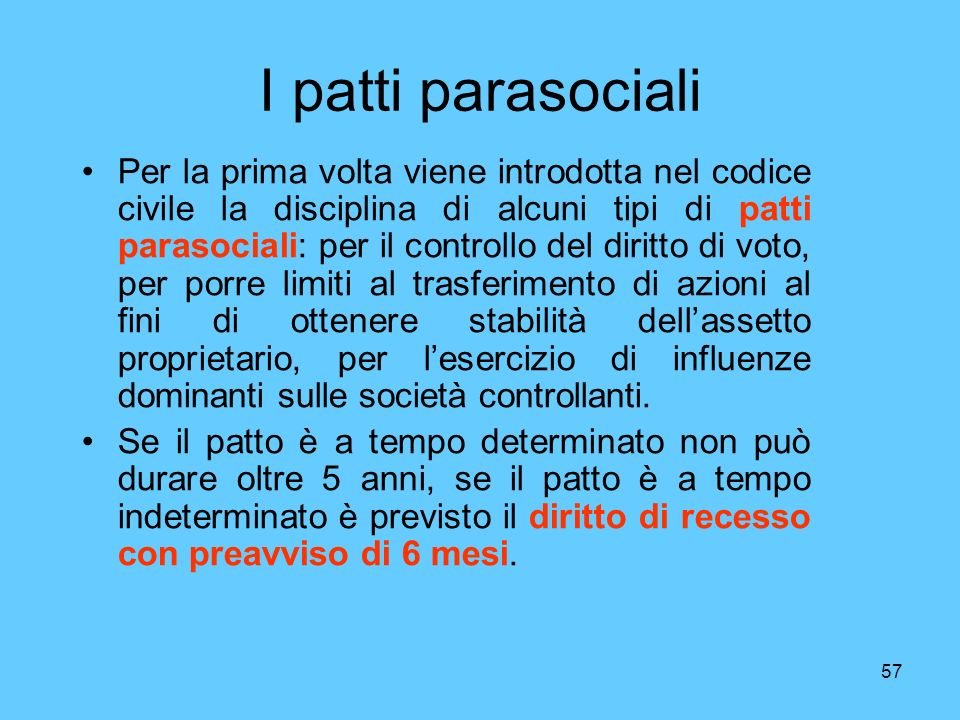 I patti parasociali