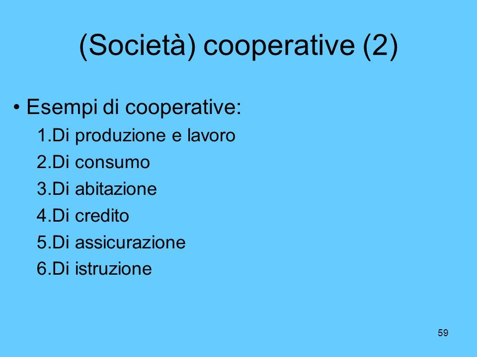 (Società) cooperative (2)