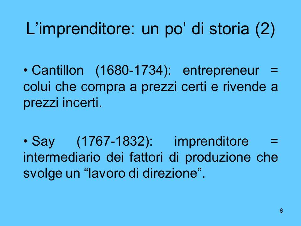 L'imprenditore: un po' di storia (2)