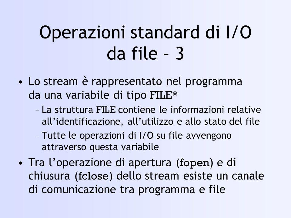 Operazioni standard di I/O da file – 3