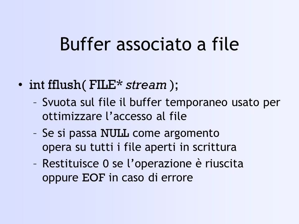 Buffer associato a file