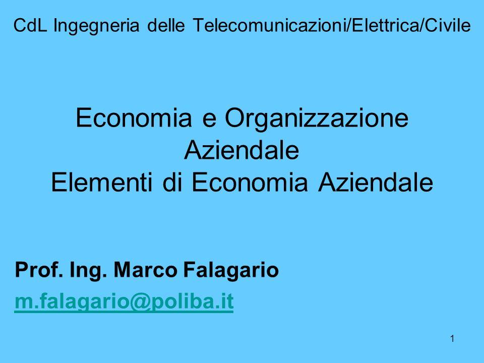 Prof. Ing. Marco Falagario m.falagario@poliba.it