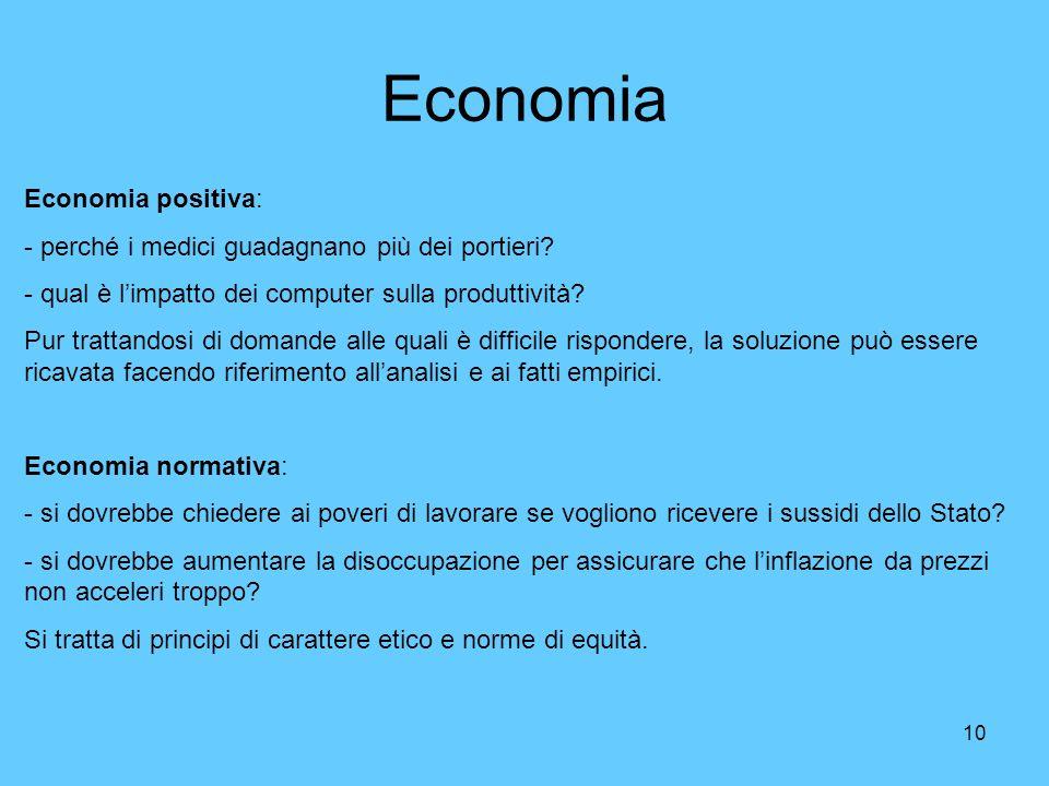 Economia Economia positiva: