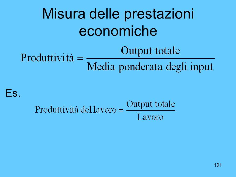 Misura delle prestazioni economiche