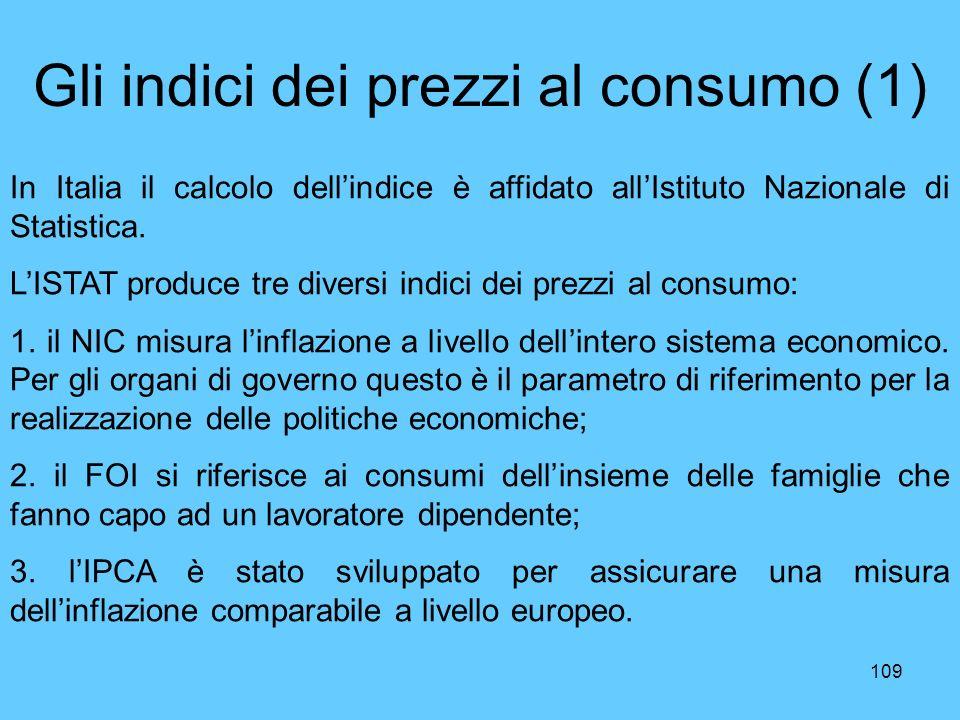 Gli indici dei prezzi al consumo (1)