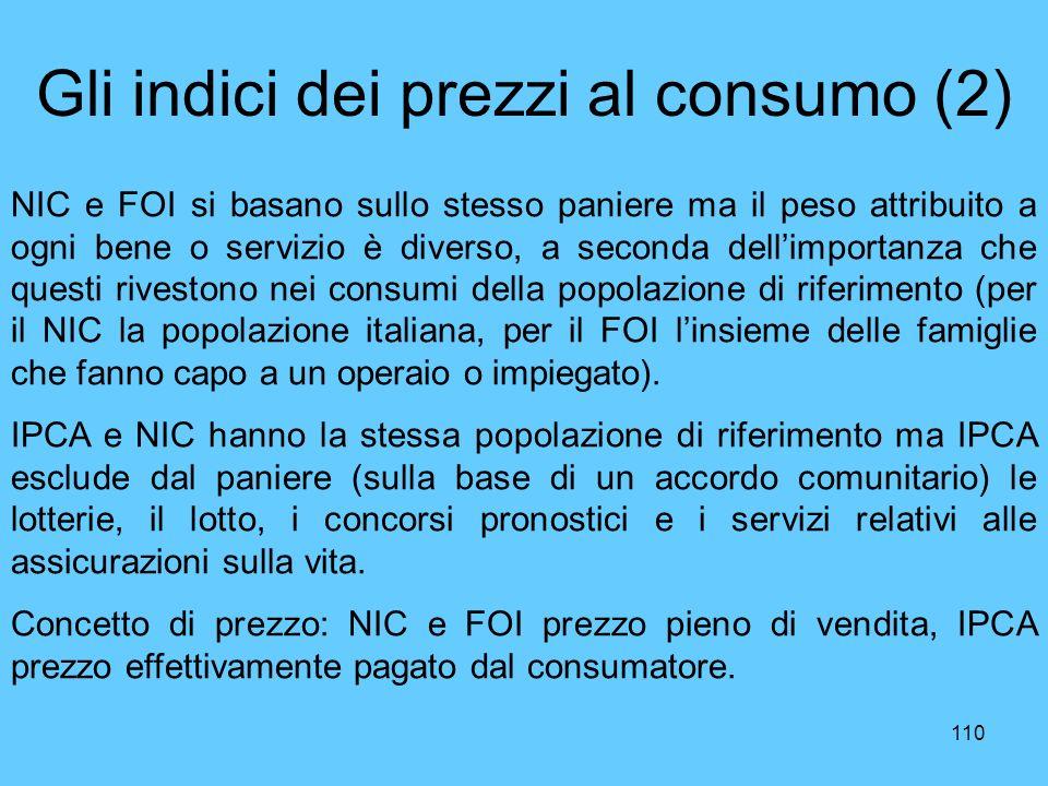 Gli indici dei prezzi al consumo (2)