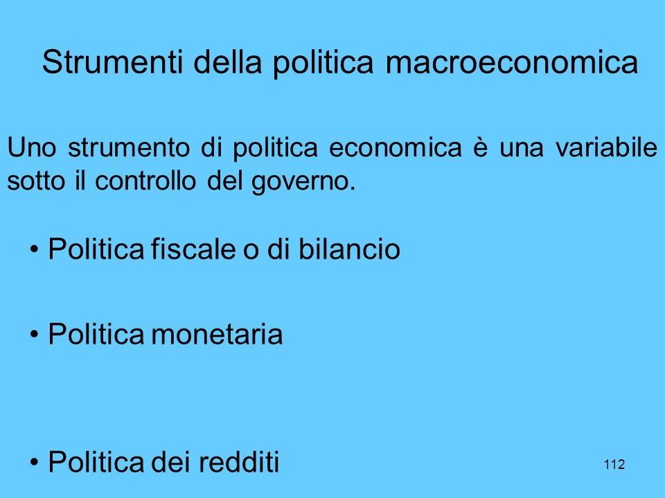 Strumenti della politica macroeconomica