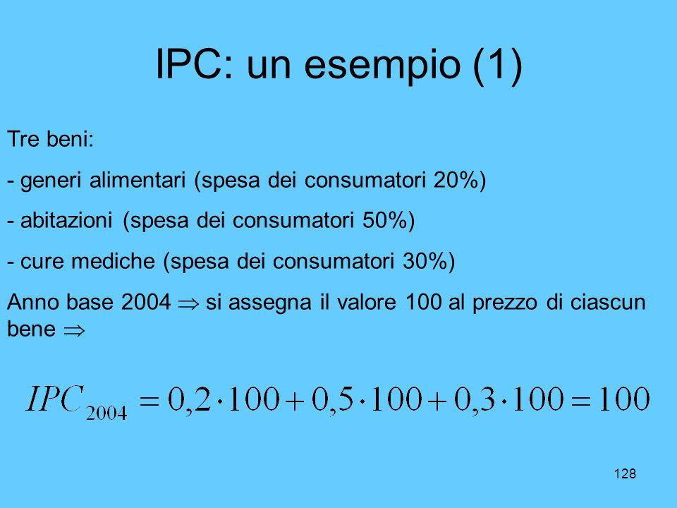 IPC: un esempio (1) Tre beni: