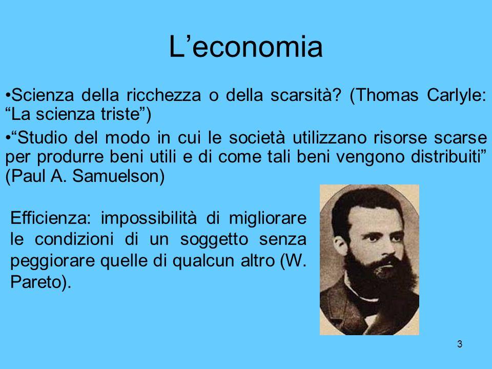 L'economia Scienza della ricchezza o della scarsità (Thomas Carlyle: La scienza triste )