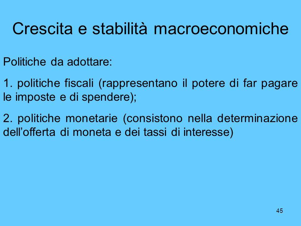 Crescita e stabilità macroeconomiche