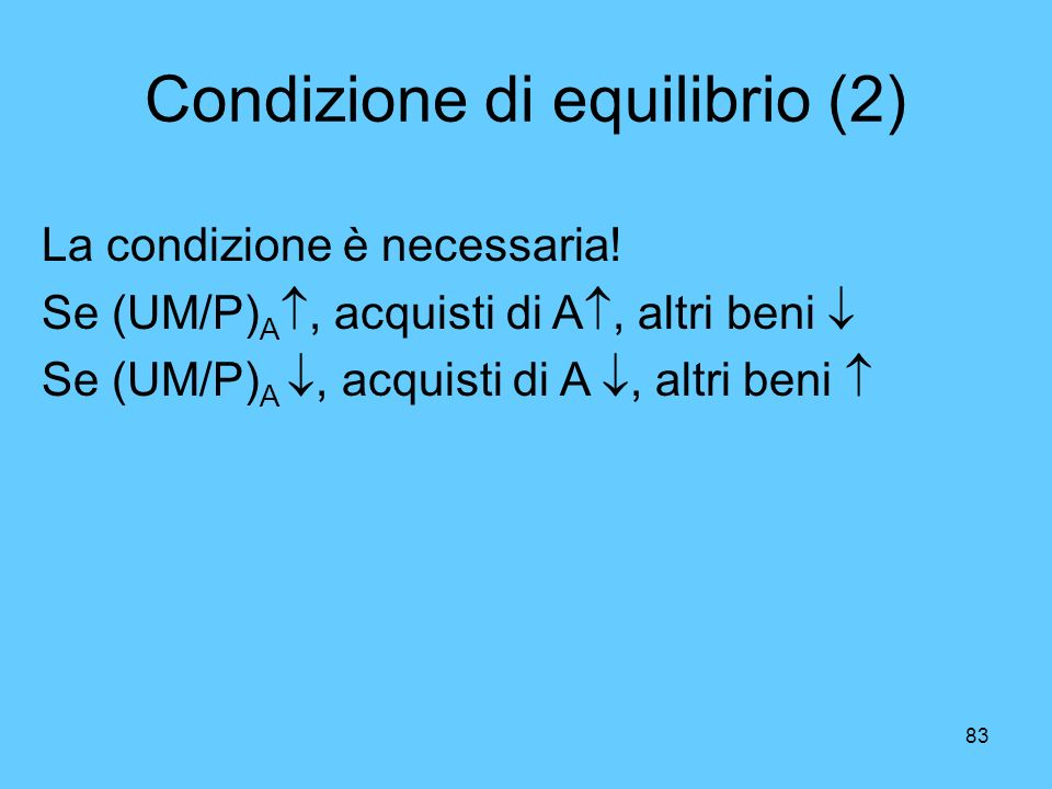Condizione di equilibrio (2)
