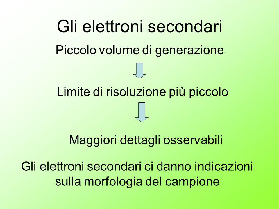 Gli elettroni secondari