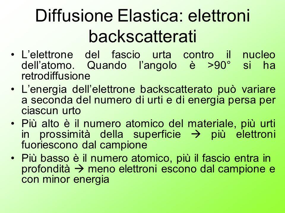Diffusione Elastica: elettroni backscatterati
