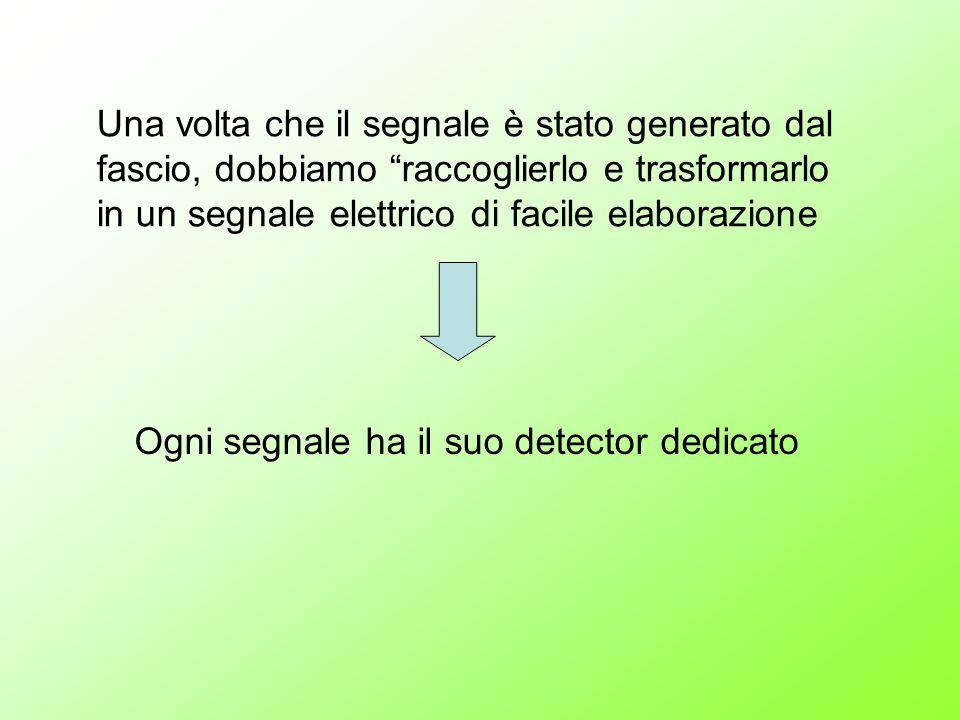 Una volta che il segnale è stato generato dal fascio, dobbiamo raccoglierlo e trasformarlo in un segnale elettrico di facile elaborazione