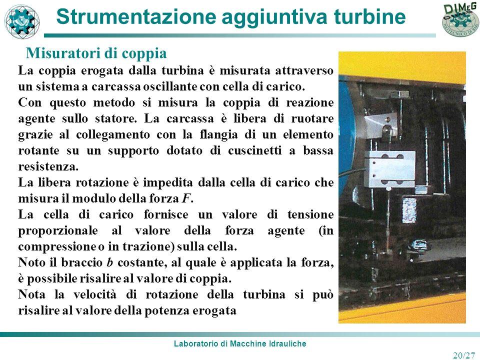 Strumentazione aggiuntiva turbine
