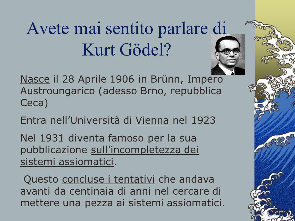 Avete mai sentito parlare di Kurt Gödel