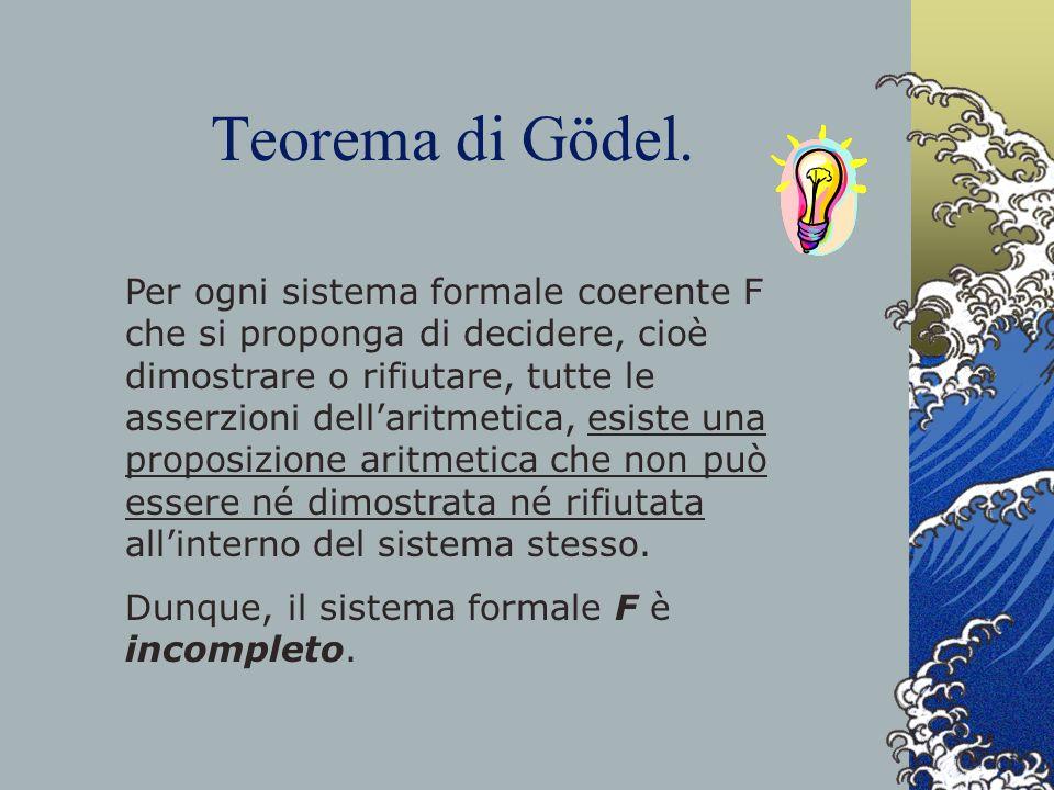 Teorema di Gödel.