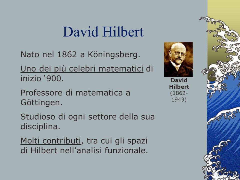 David Hilbert Nato nel 1862 a Köningsberg.