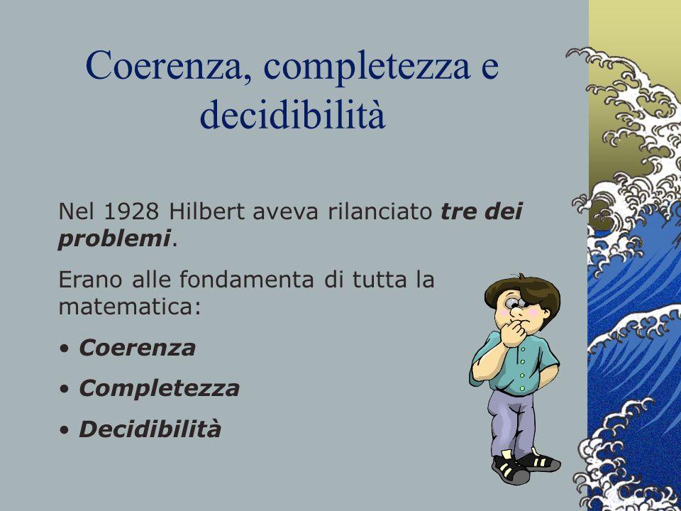 Coerenza, completezza e decidibilità