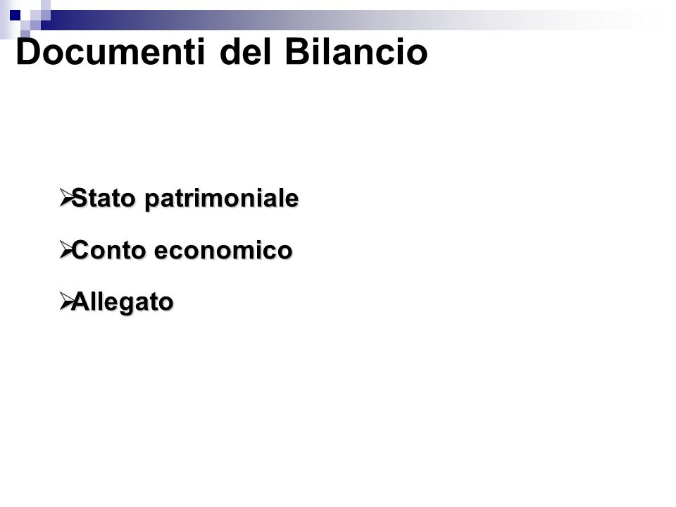 Documenti del Bilancio