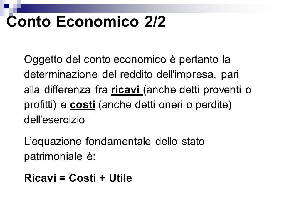 Conto Economico 2/2