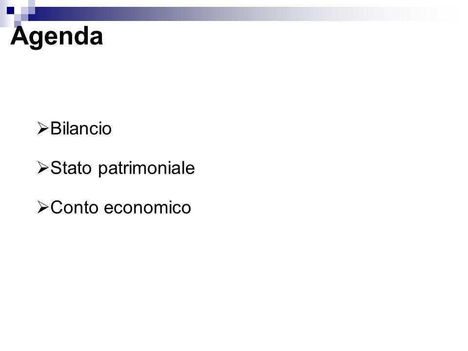 Agenda Bilancio Stato patrimoniale Conto economico
