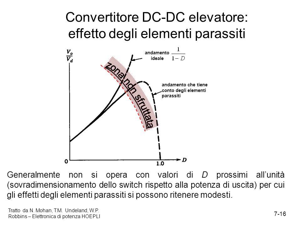 Convertitore DC-DC elevatore: effetto degli elementi parassiti