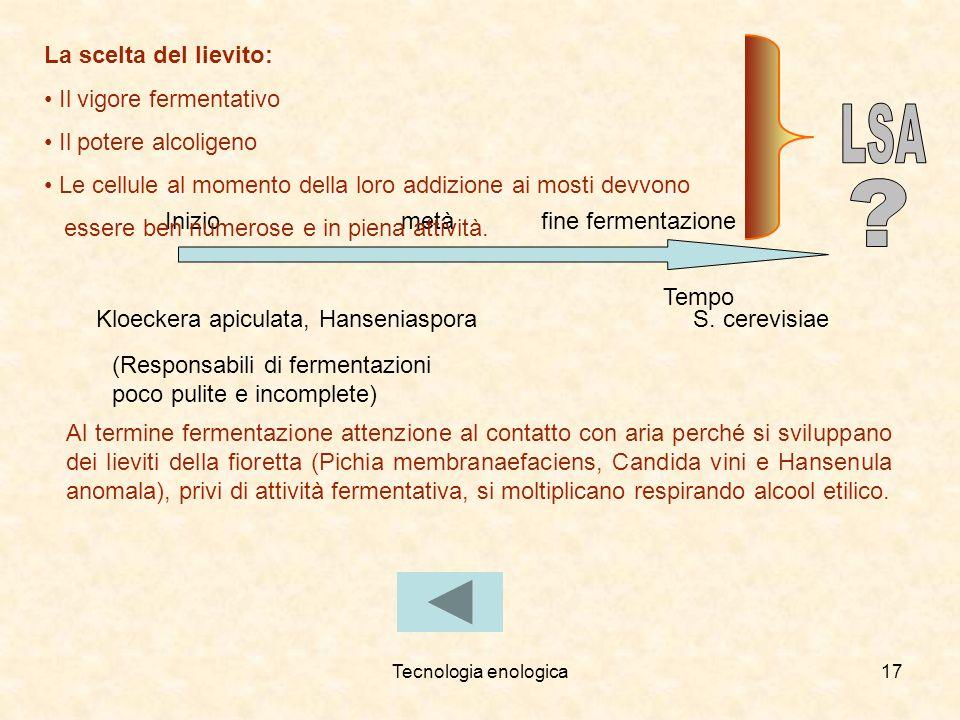 LSA La scelta del lievito: Il vigore fermentativo