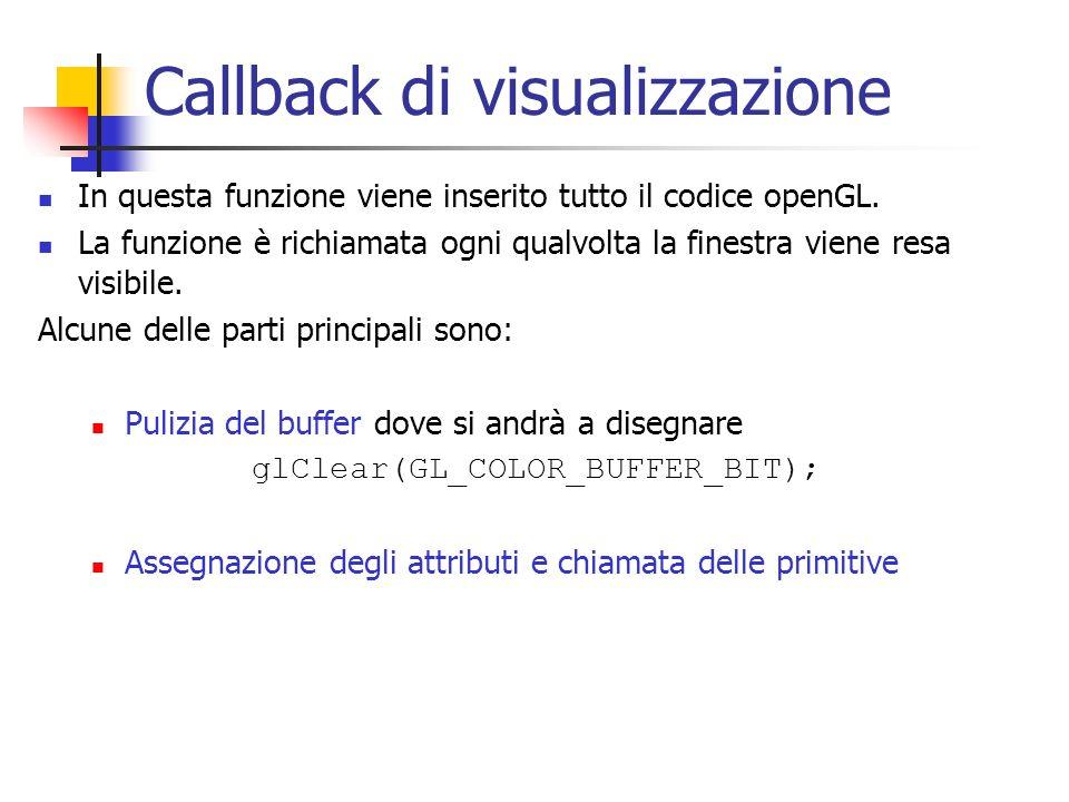 Callback di visualizzazione