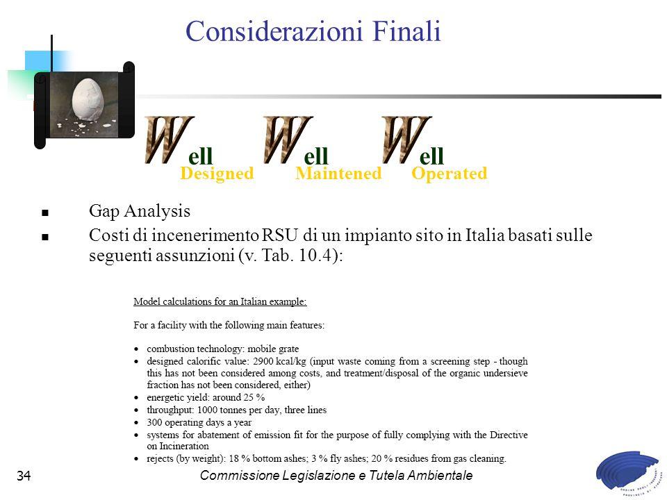 Considerazioni Finali