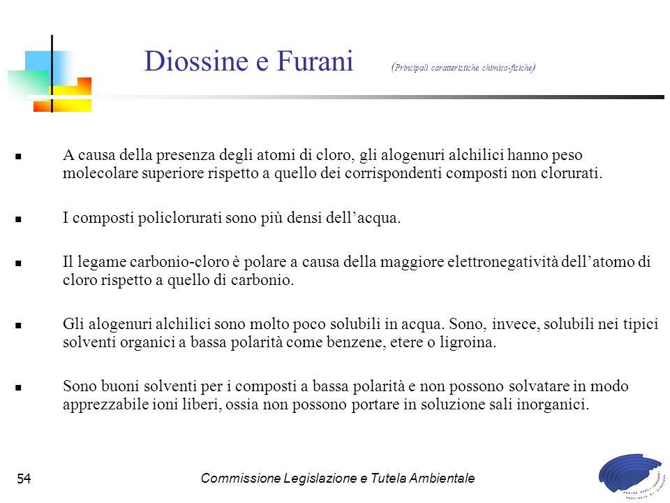 Diossine e Furani (Principali caratteristiche chimico-fisiche)
