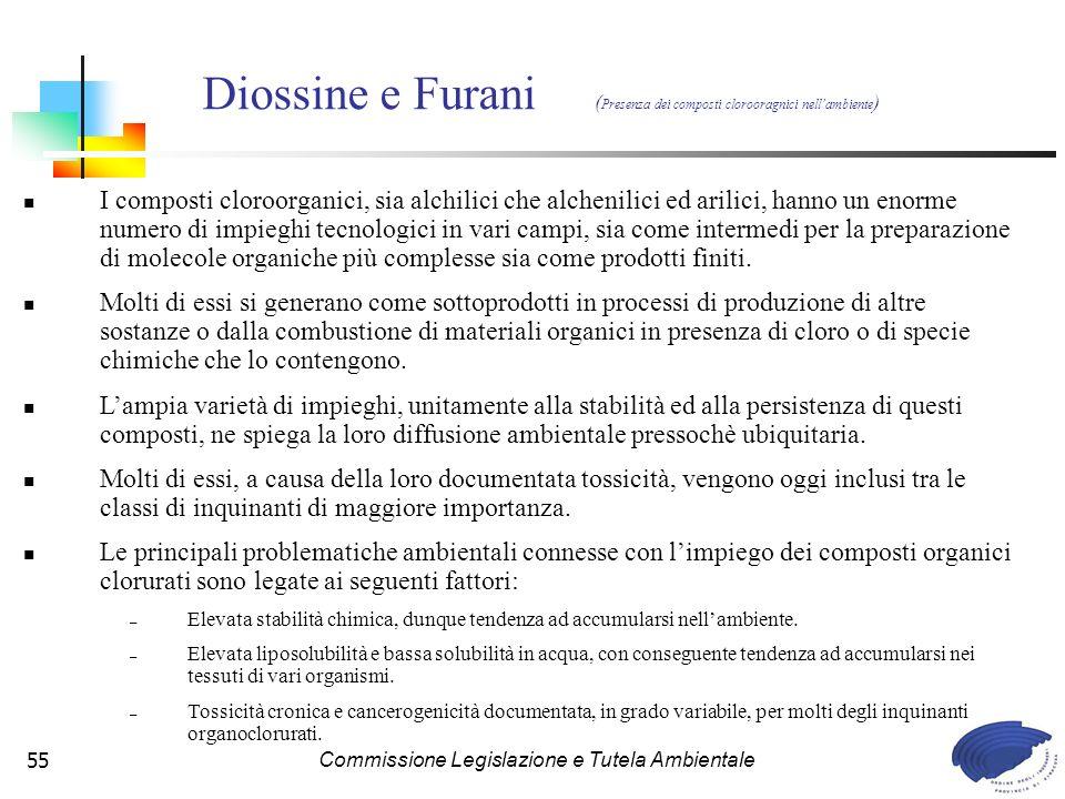 Diossine e Furani (Presenza dei composti clorooragnici nell'ambiente)