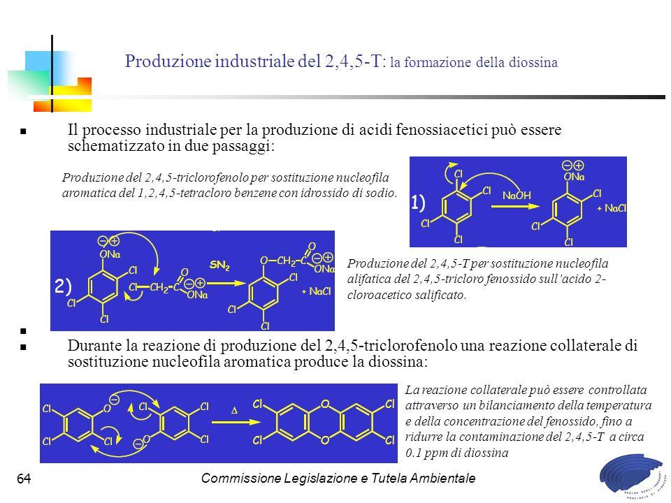 Produzione industriale del 2,4,5-T: la formazione della diossina
