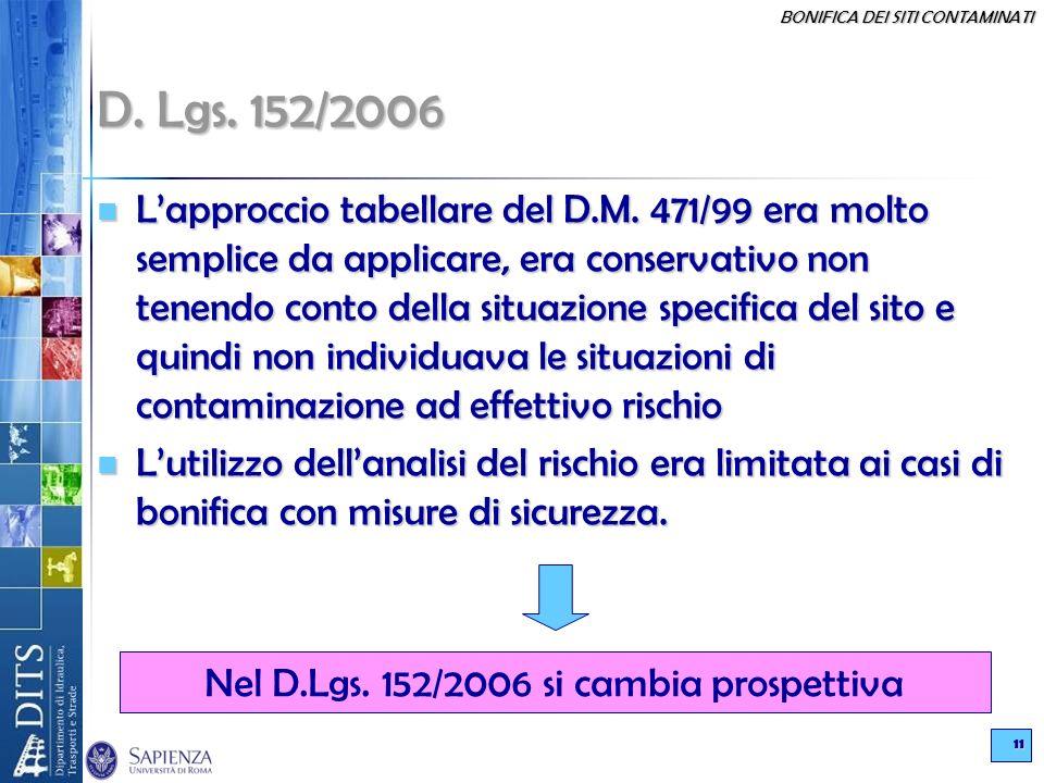 Nel D.Lgs. 152/2006 si cambia prospettiva