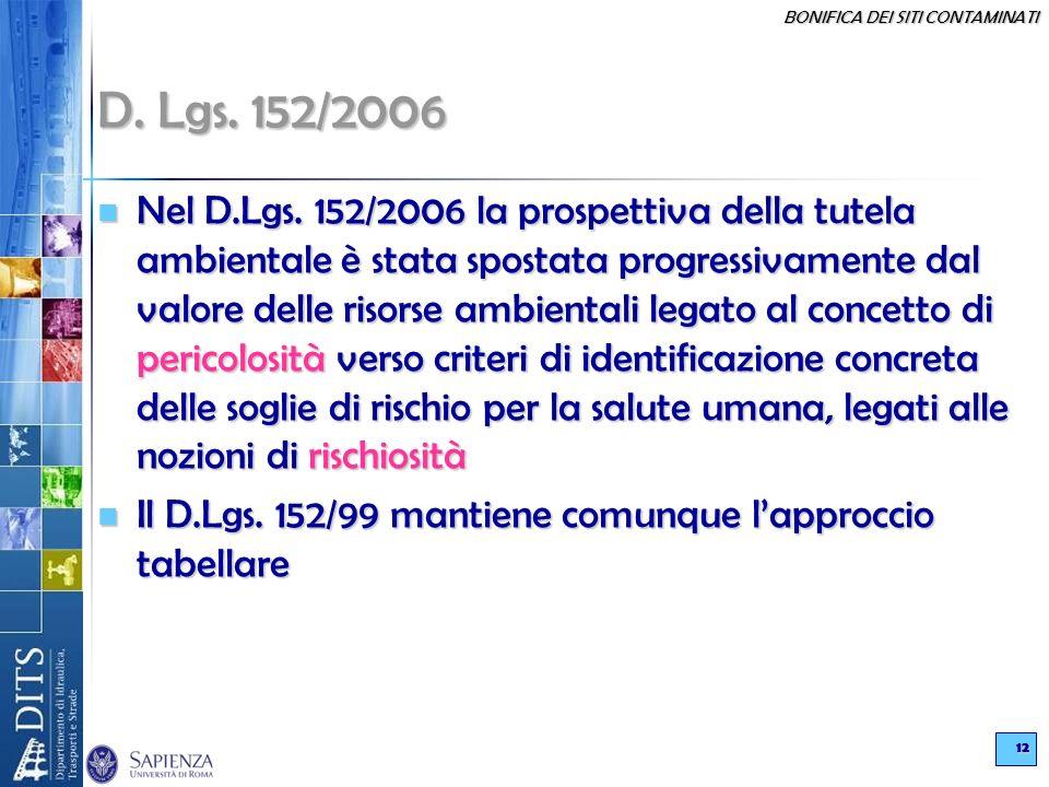 D. Lgs. 152/2006
