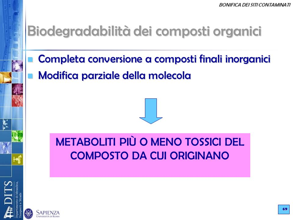 Biodegradabilità dei composti organici