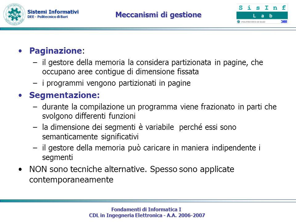 Meccanismi di gestione