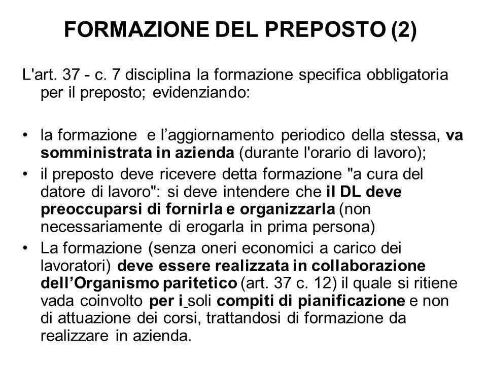 FORMAZIONE DEL PREPOSTO (2)