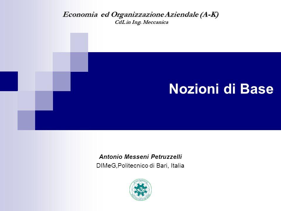 Antonio Messeni Petruzzelli DIMeG,Politecnico di Bari, Italia
