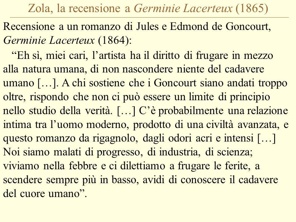 Zola, la recensione a Germinie Lacerteux (1865)